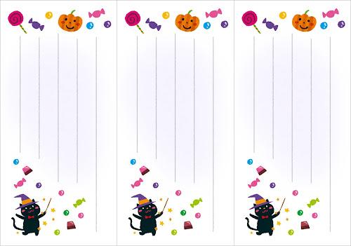 季節の一筆箋のテンプレート(10月)