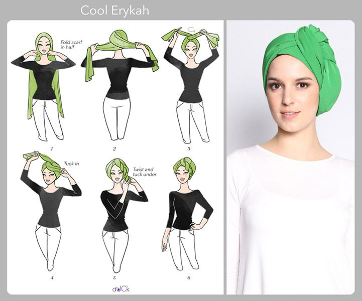 Hijab moderne - Tutorial hijab turban ~ Hijab et voile ...