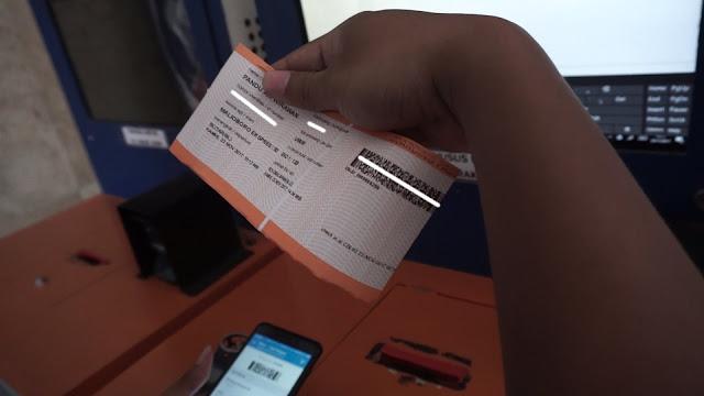 Print tiket kereta api sendiri
