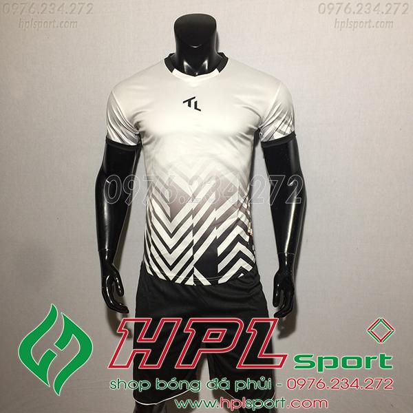 Áo bóng đá không logo TL Raki màu trắng