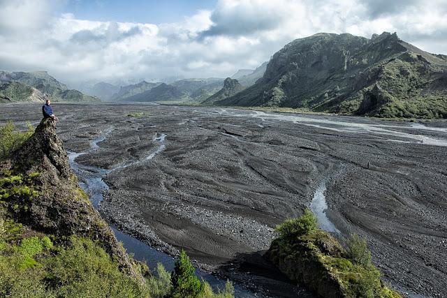 Hiking in Iceland. The beautiful Thórsmörk