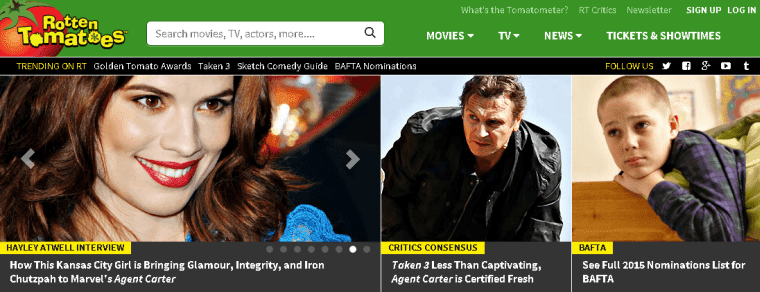 Rotten Tomatoes: watch free movies online