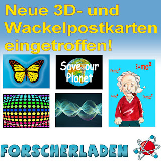 Neue Efffektpostkarten - Postkarten mit Flip-Effekt (Wackelbilder, Wechselbilder) und 3D-Postkarten und -Bilder lieferbar!