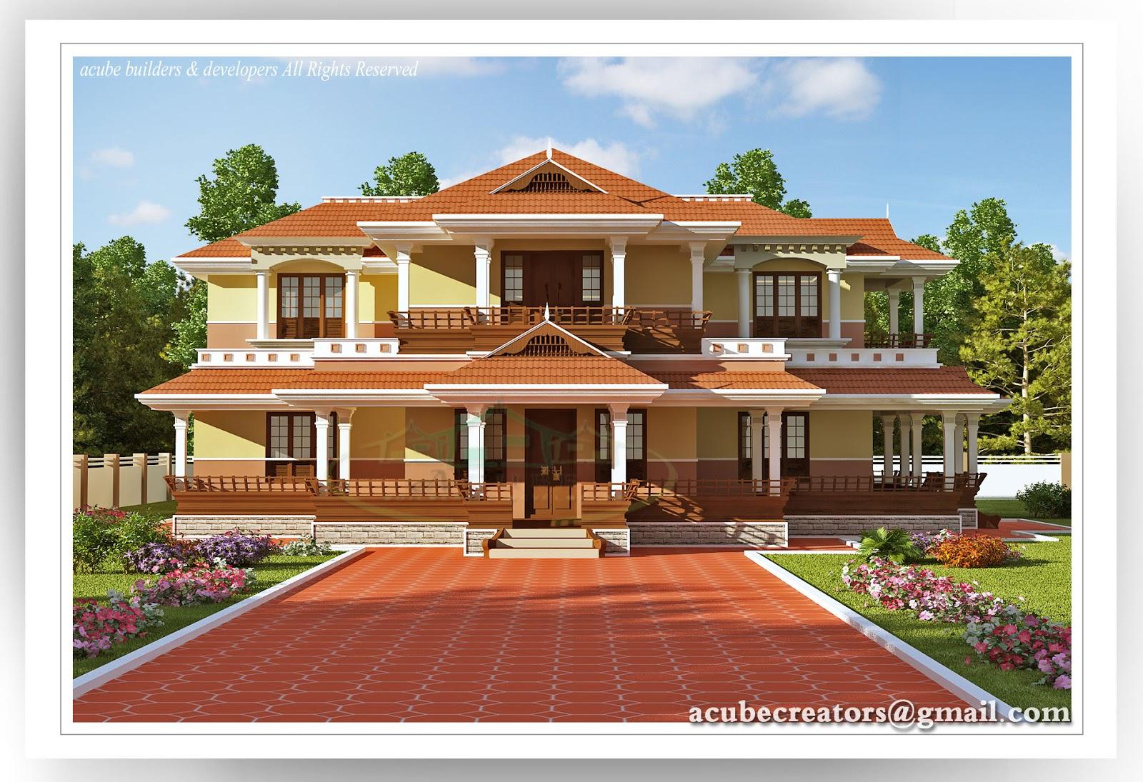 Beautiful kerala 5 bedroom villa 4851 plan 145 for 5br house plans