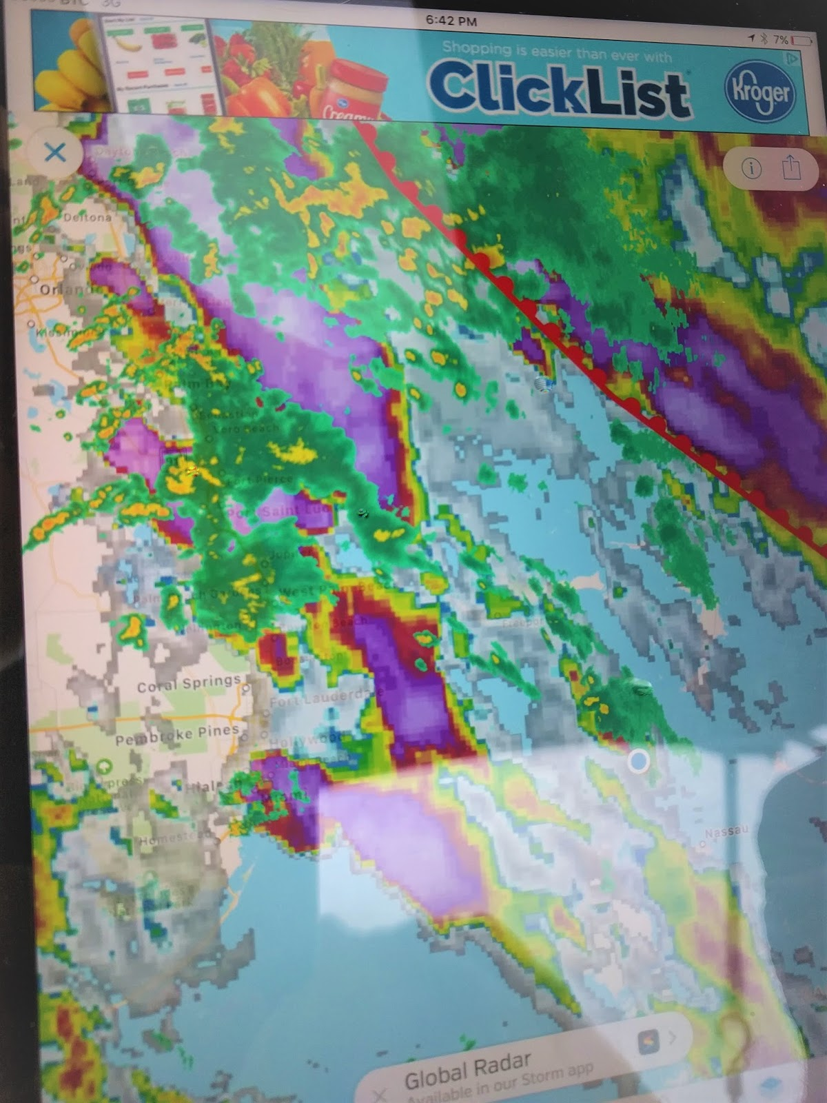 there is a stationary front sitting more or less right over us which has been the cause of the unstable weather