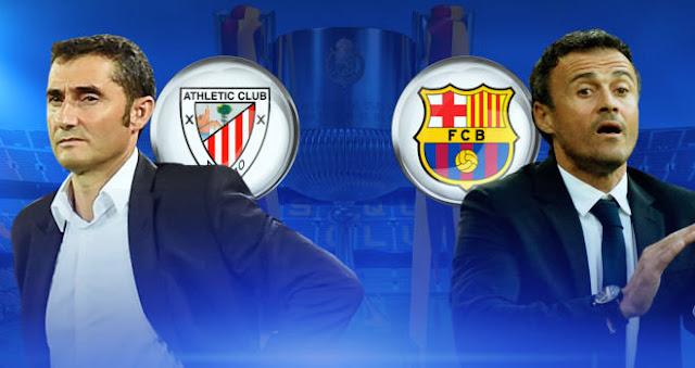 Pre match photos of Barcelona vs Athletic Bilbao