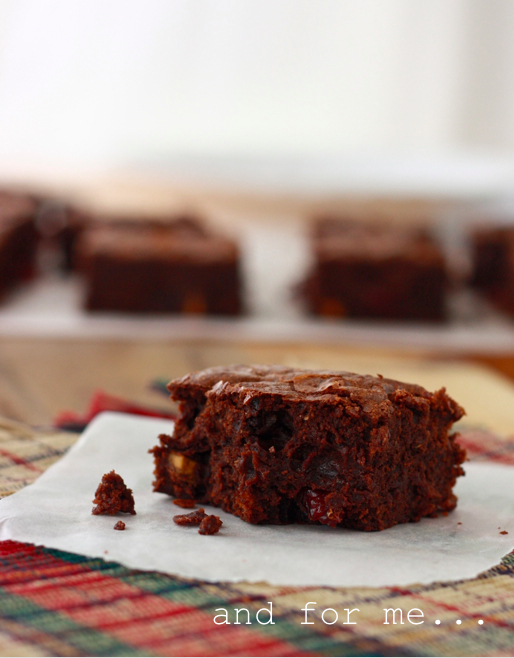 brownie recipe with cranberry and pistachio