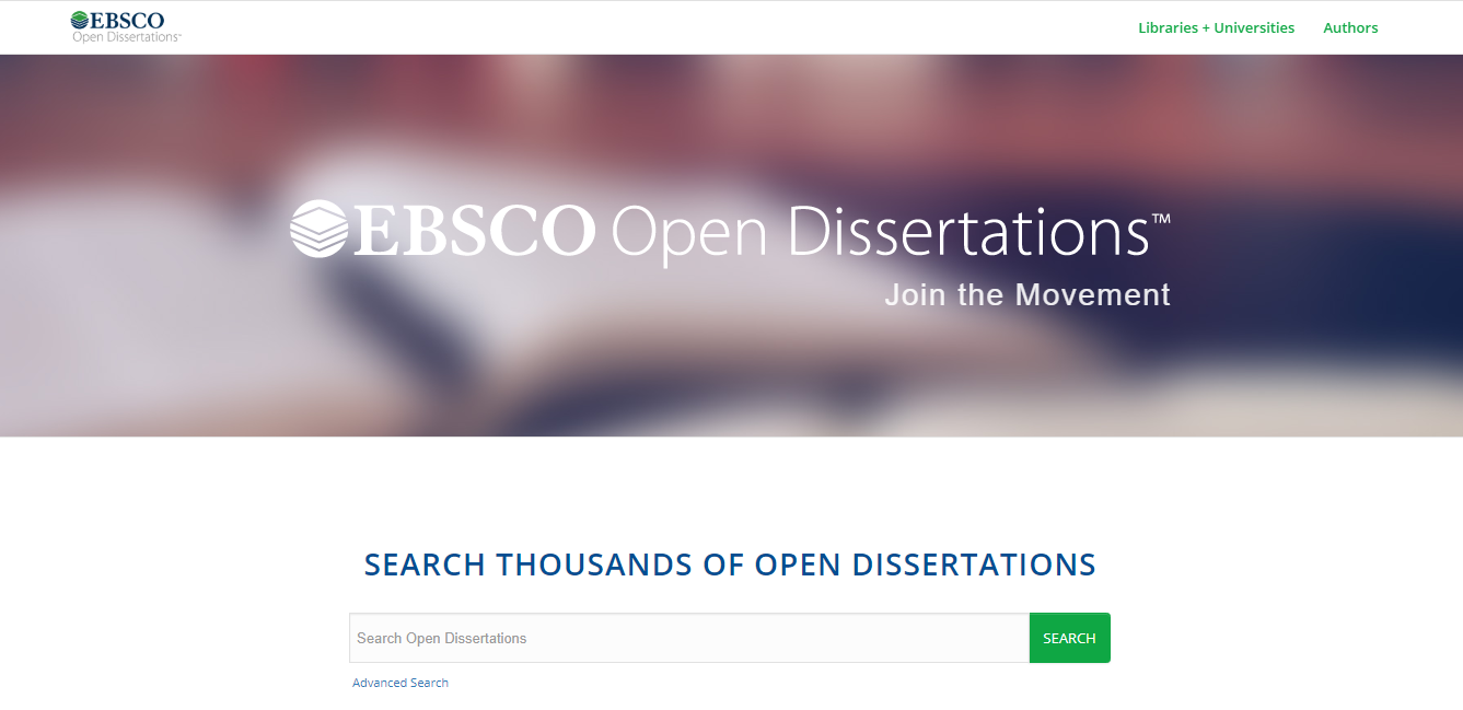 EBSCO Open Dissertations