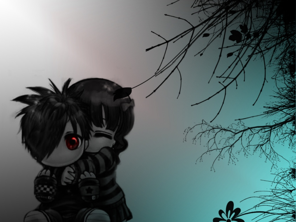 Emo love wallpapers for desktop see to world - Emo boy anime wallpaper ...