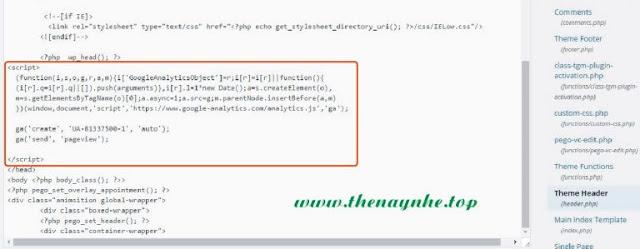 Cách Cài Đặt Anaylytics - Cách chèn mã google analytics 2