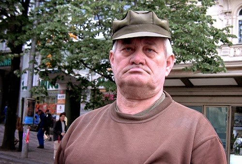 Image of a grumpy Czech person