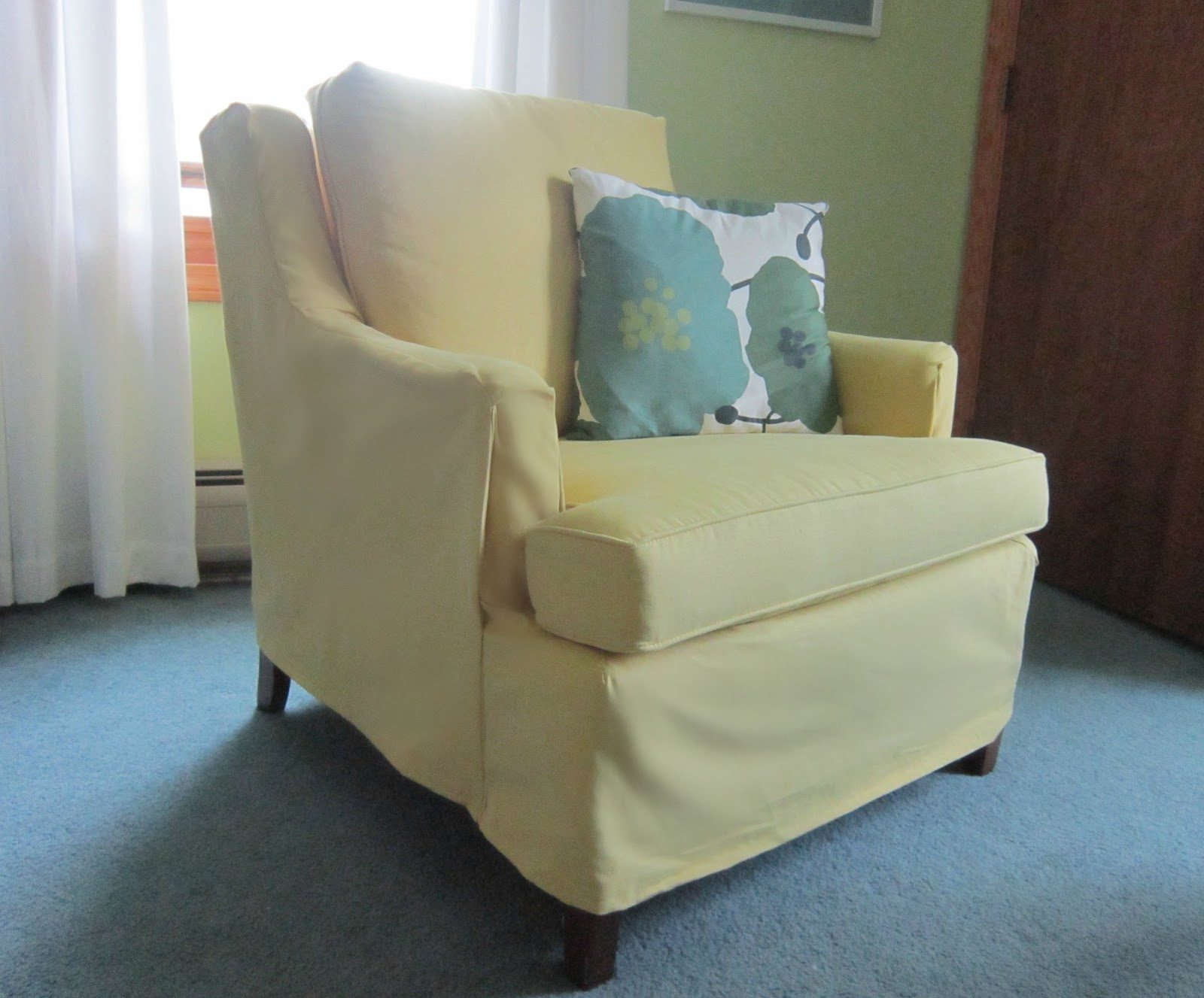 yellow chair covers massage brookstone design megillah slipcovering a