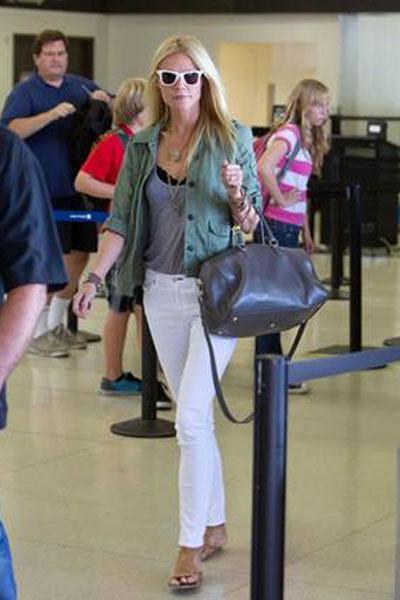 Gwyneth Paltrow Carrying Hedi Slimane's First Bag for YSL