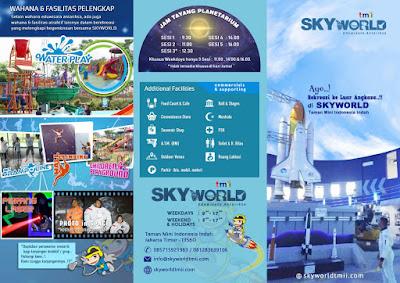 SKYWORLD tmii Jakarta flyer outer 2018