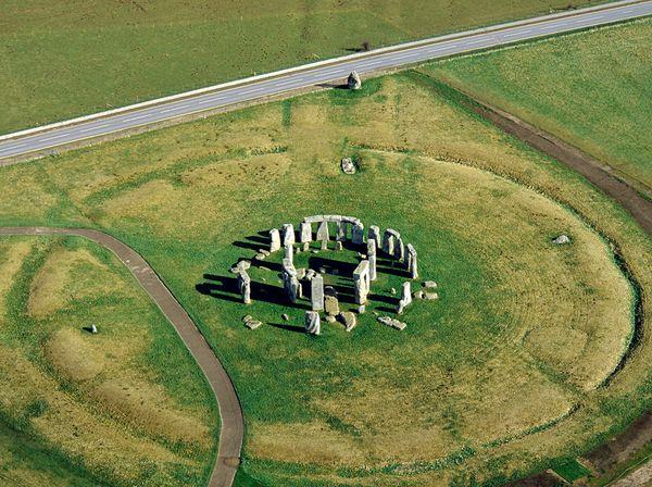 Stonehenge vue aérienne