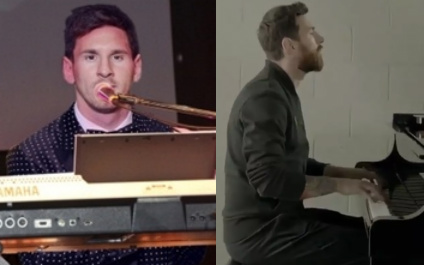 lionel messi playing keyboard