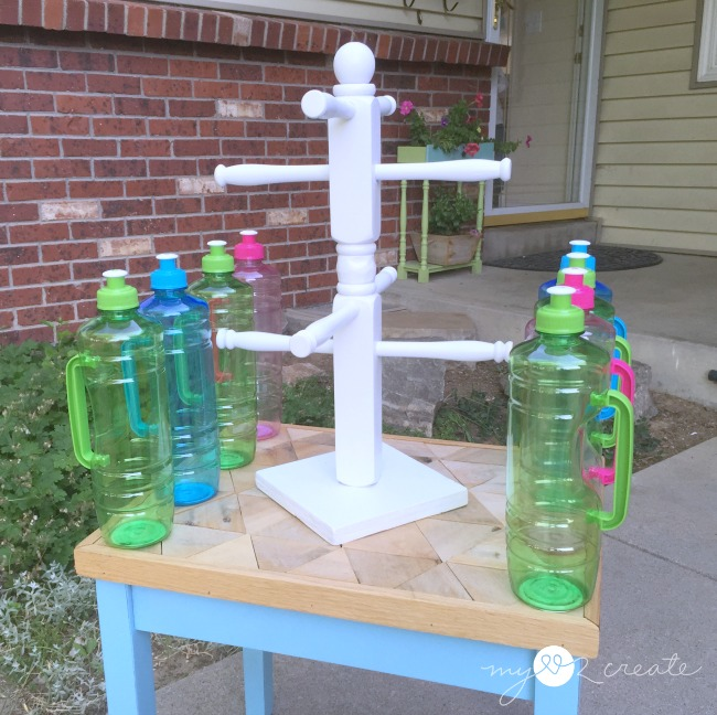 water bottle holder, repurposed