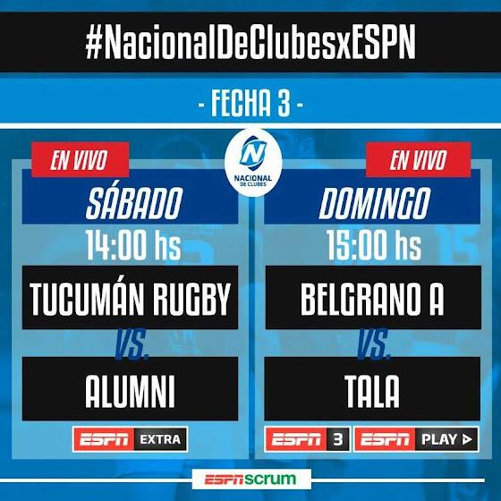 Tucumán Rugby - Alumni (en vivo, Nacional de Clubes, ESPN Extra).