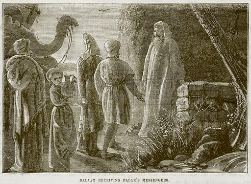 Balaam Receiving Balak's Messengers - From The Child's Bible, Cassel