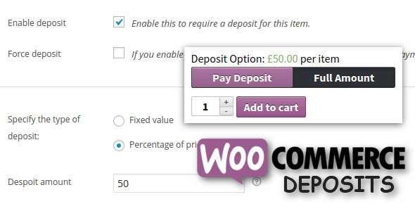 WooCommerce Deposits v2.3.7 – Partial Payments Plugin