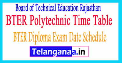 BTER Diploma Exam Date Schedule 2019 BTER Polytechnic Time Table