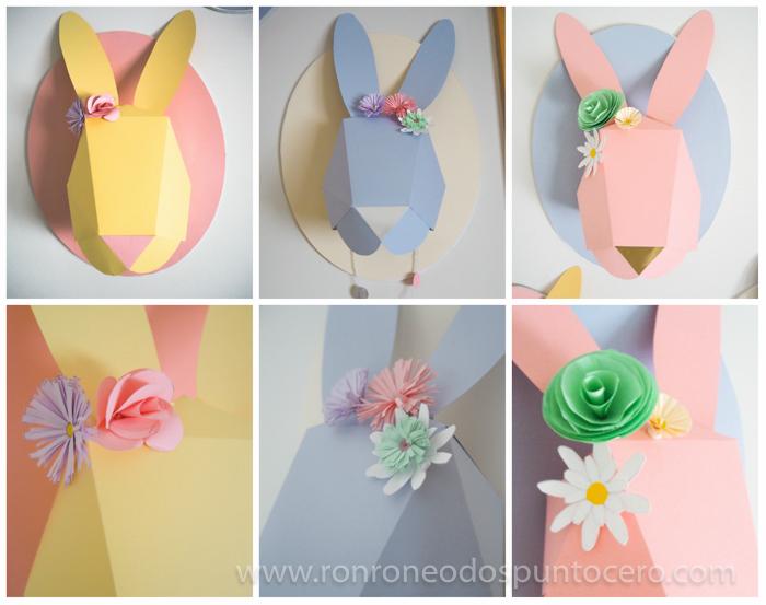 DIY: Busto conejo de papel - Detalles