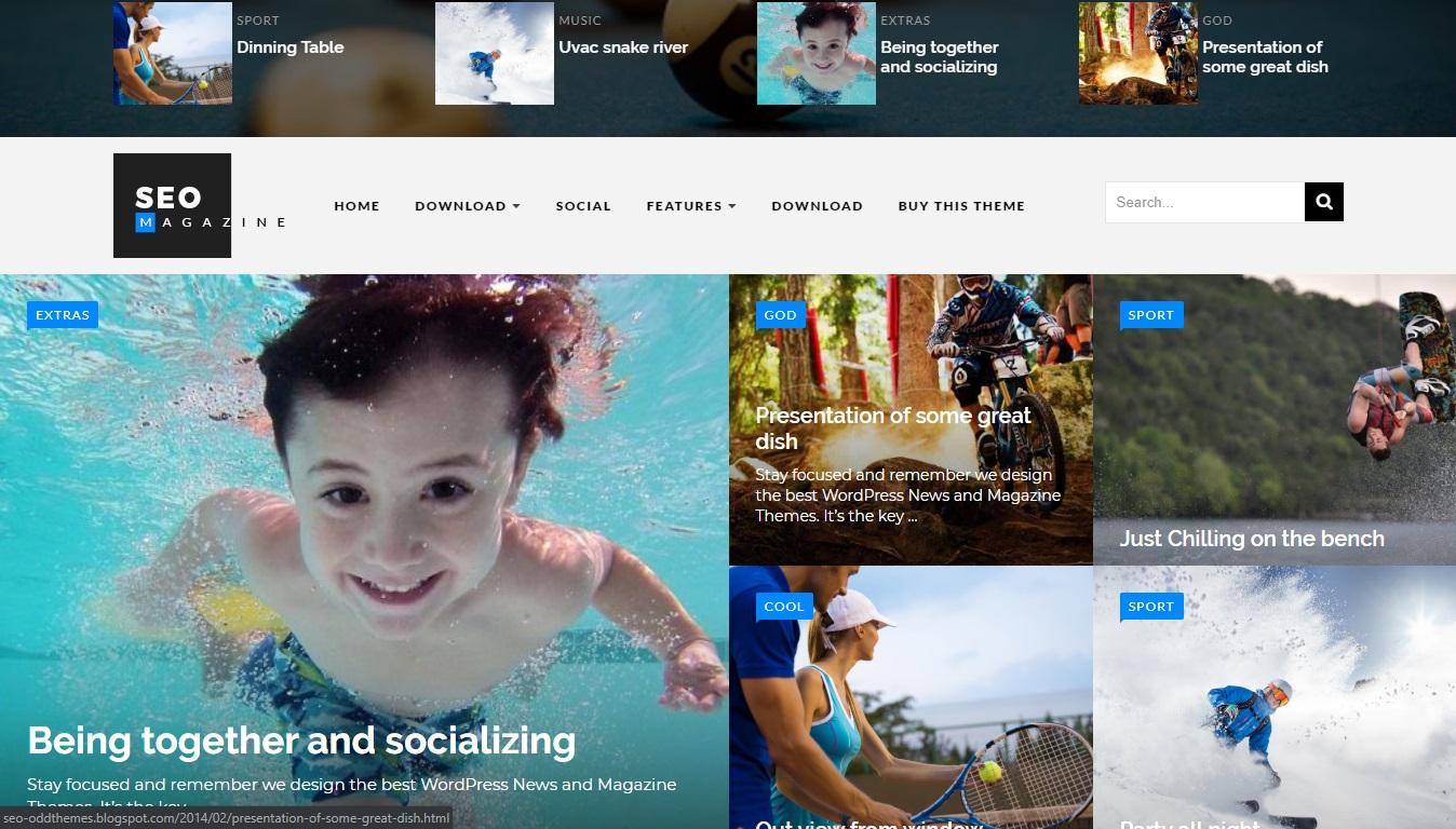 SEO Sports - Responsive Blogger Template