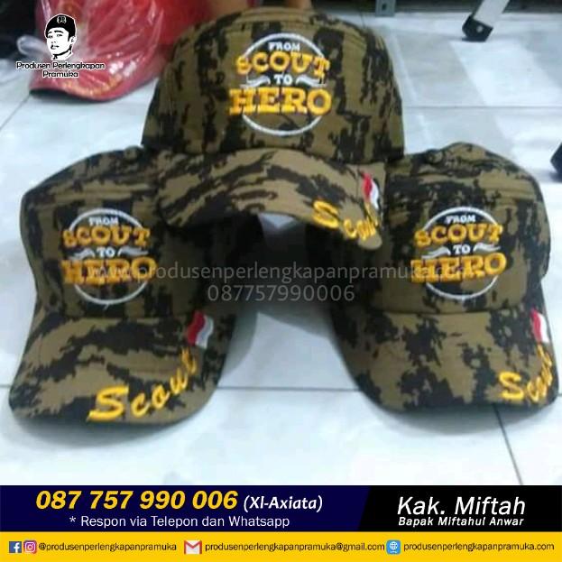 Grosir Topi Pramuka Putra | Jual Topi Pramuka Putra | Produsen Topi Pramuka Putra
