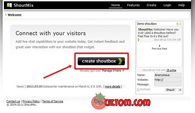 Create Shoutbox