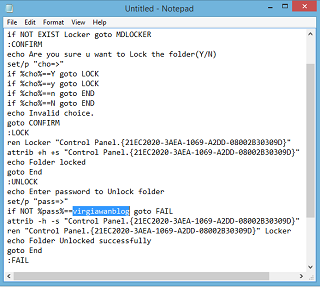 Cara menyembunyikan file dan folder menggunakan notepad