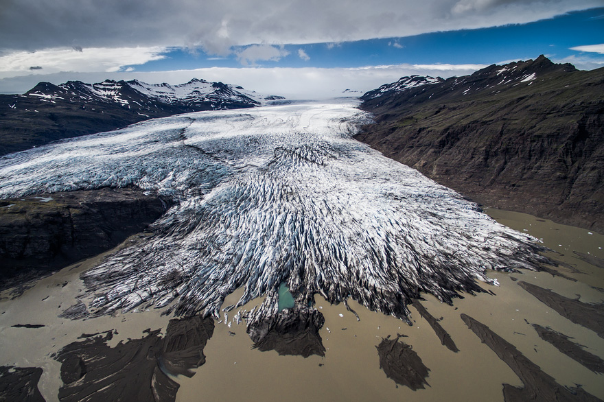 Fláajökull Glacier - Drone Captures Stunning Aerial Images of Iceland, In Case You Need Another Reason to Go