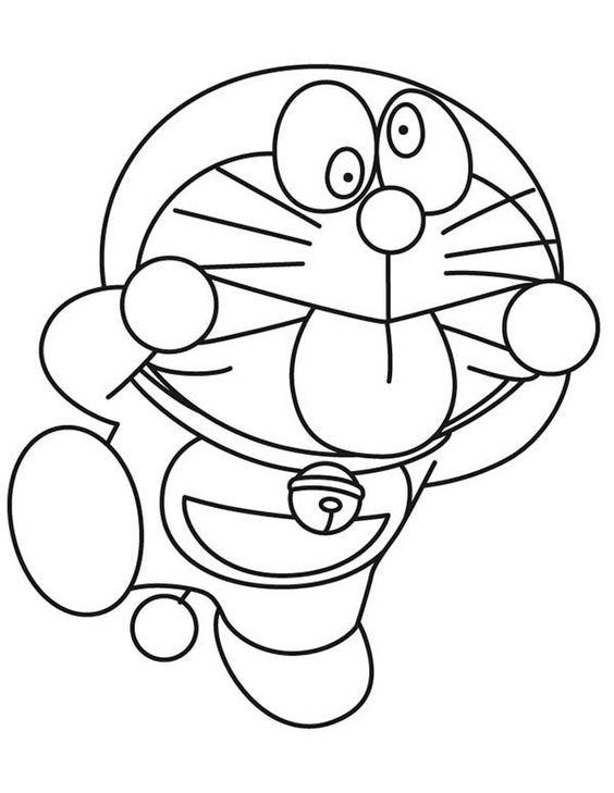 Tranh cho bé tô màu Doraemon làm trò chế giễu