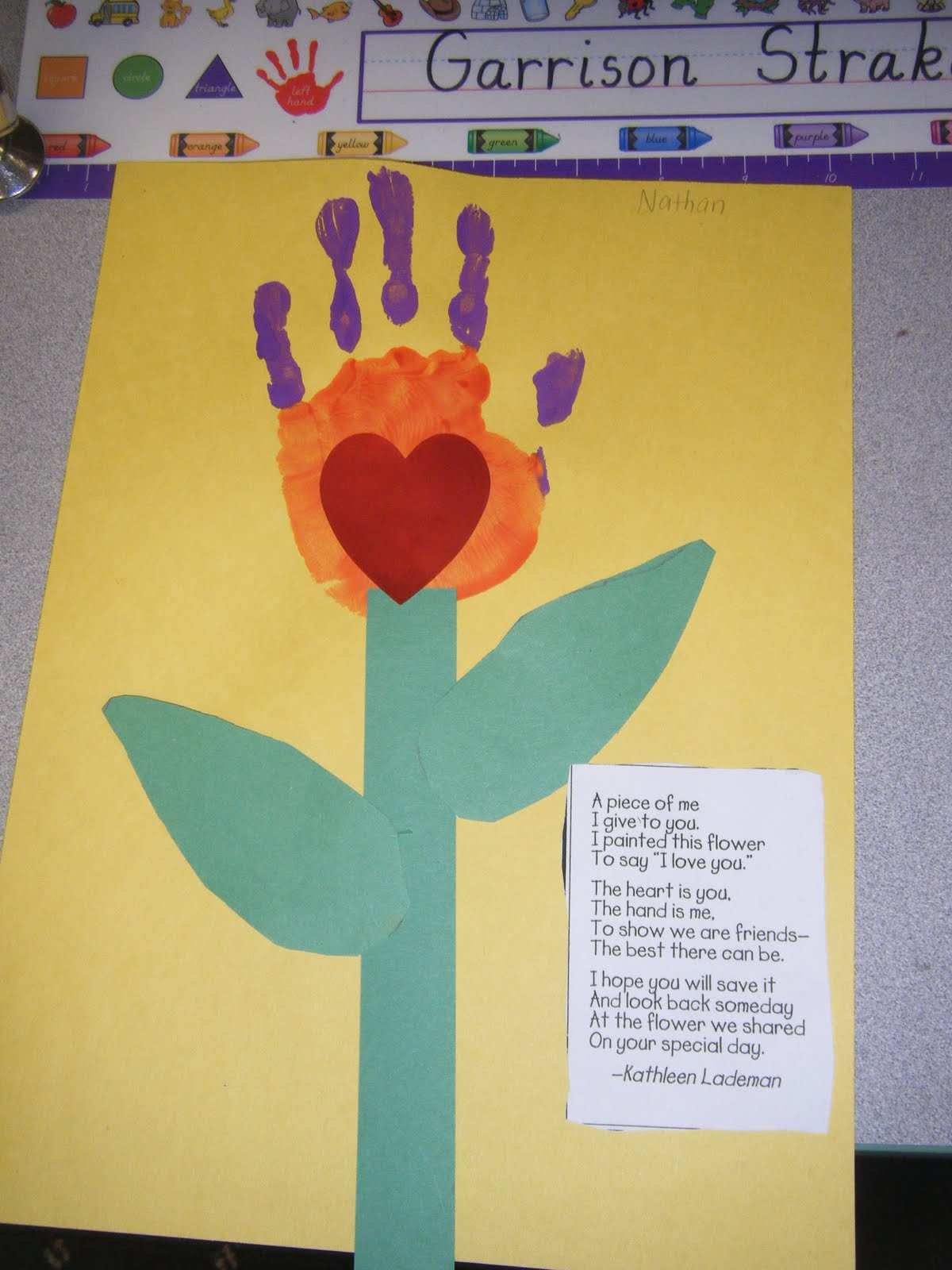 Mother s day handprint poems from children shall afford