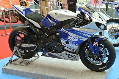 A Yamaha motorcycle