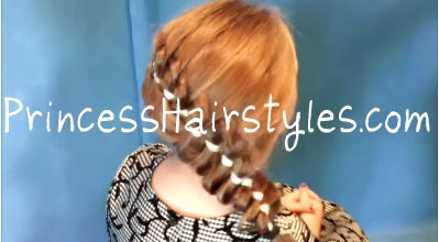 pleated ribbon hair style