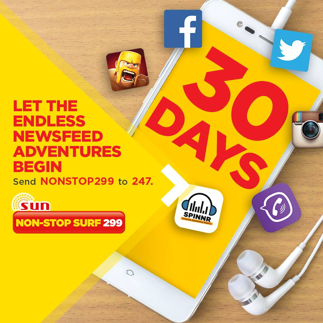 Sun Non-stop Surf 299 for 30 days