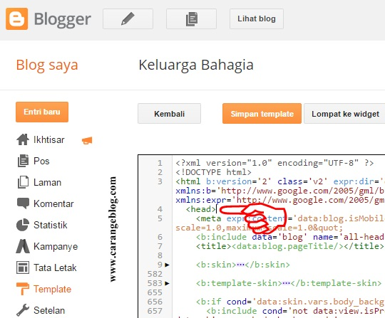 Buat baris baru/kosong di halaman edit HTML
