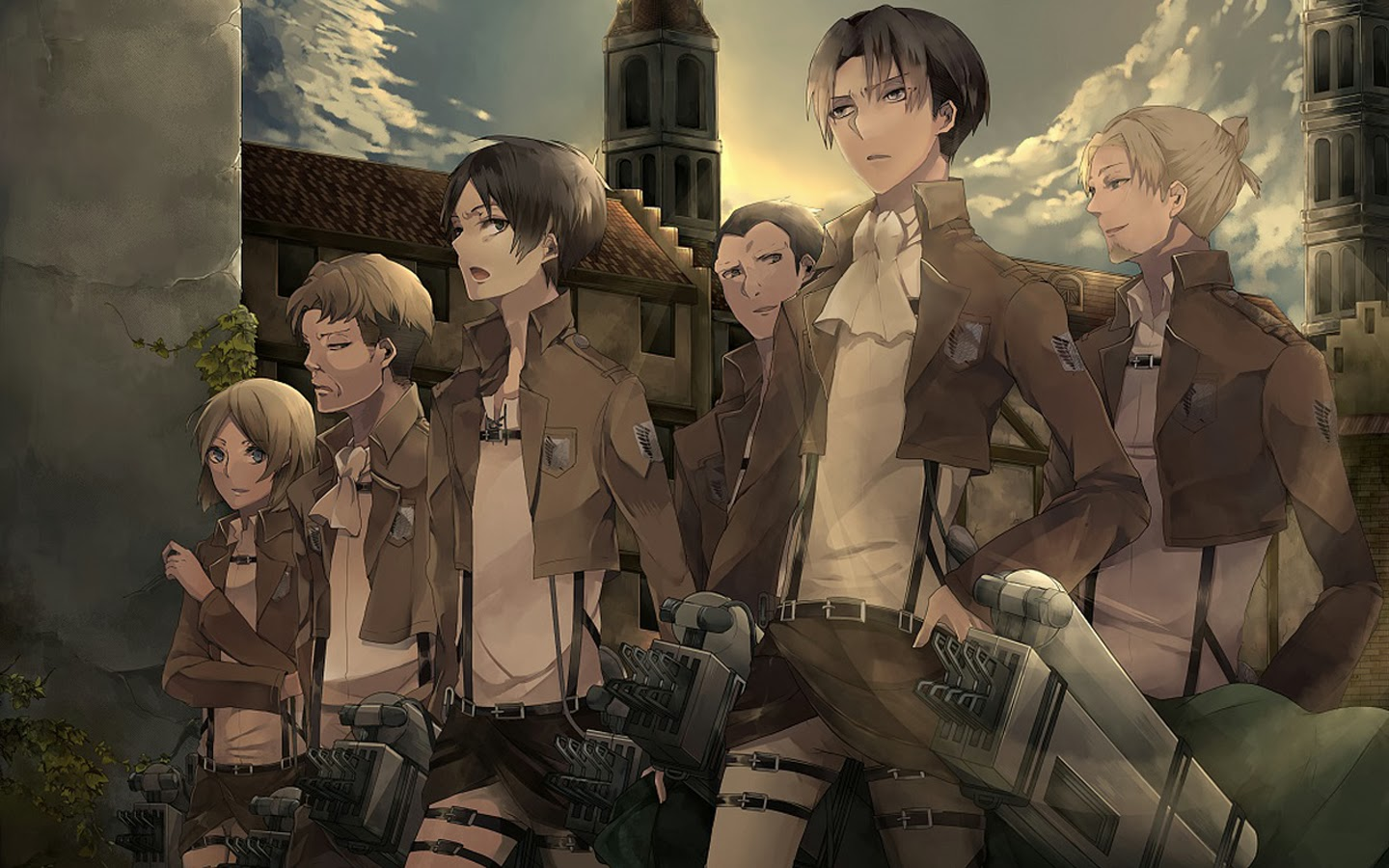 Levi Special Squad Anime Picture 9p Wallpaper Hd