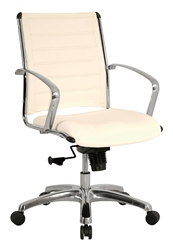 Europa Chair in White Leather