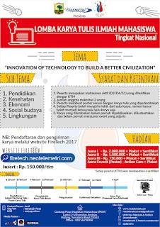 Lomba Karya Tulis Ilmiah (LKTI) FireTech UKM Neo Telemetri Universitas Andalas