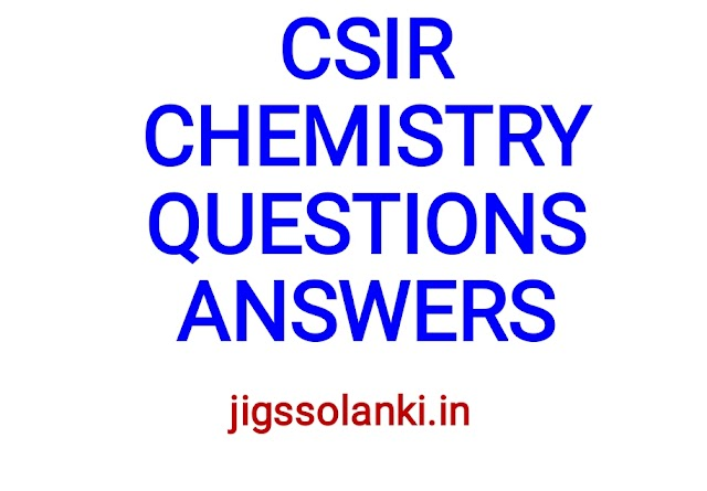 CSIR NET CHEMISTRY PREVIOUS YEAR QUESTIONS WITH ANSWERS