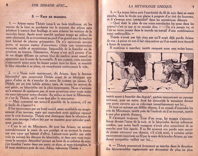 Manuels Anciens  Le Minotaure