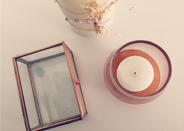 DIY copper dipped glass votive