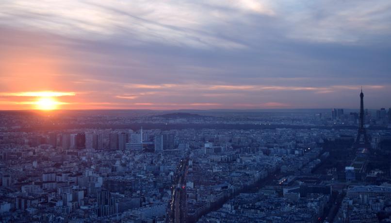 Zonsondergang op Tour Montparnasse