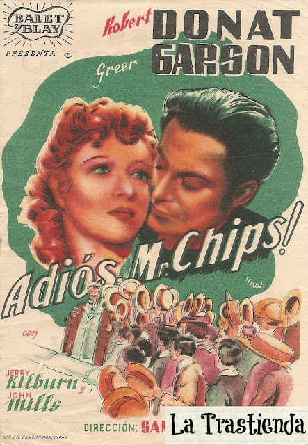 Programa de Cine - Adiós Mr. Chips - Greer Garson - Robert Donat
