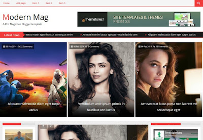 Modern Mag Responsive Blogger Template Free Download 2018