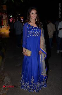 Telugu Actress Tejaswi Madivada Pos in Blue Long Dress at Nanna Nenu Na Boyfriends Audio Launch  0109.JPG