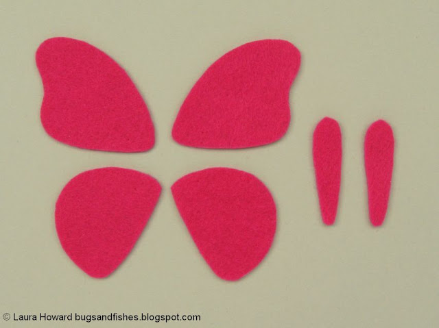 felt butterfly pieces