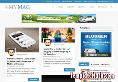 my mag blogger template