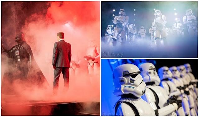 "Disney Consumer Products Executive Vice President Josh Silverman is interrupted by ""The Imperial March"" led by Darth Vader and 20 Stormtroopers as they take over the stage during a private Disney event at the Licensing Expo, Monday June 17, 2013 at the Mandalay Bay Convention Center in Las Vegas. This surprise grand finale, presented to more than 1,500 licensees, demonstrates a new era of merchandising potential for Disney Consumer Products' robust franchise portfolio, which now includes the Star Wars franchise. (Photo by Eric Jamison/Invision for DisneyConsumer Products/AP Images)"